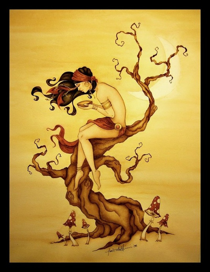 Gypsy tree tattoo picture
