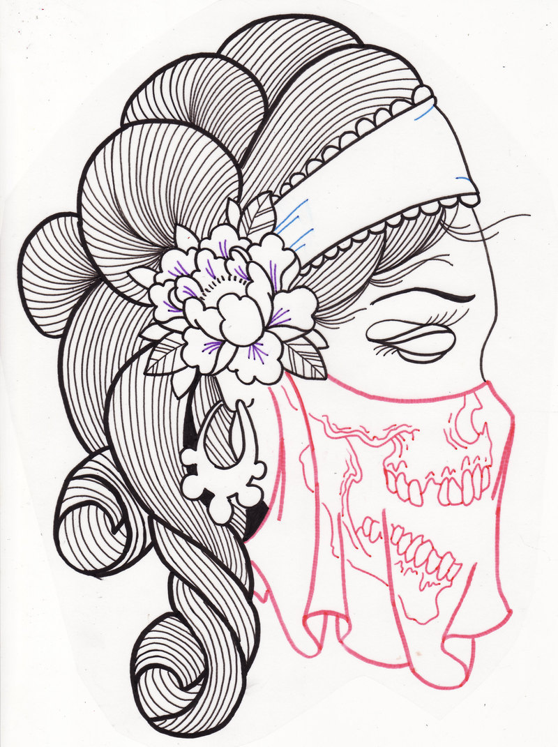 Gypsy Woman Sugar Skull Tattoo Design 2 Tattoos Book