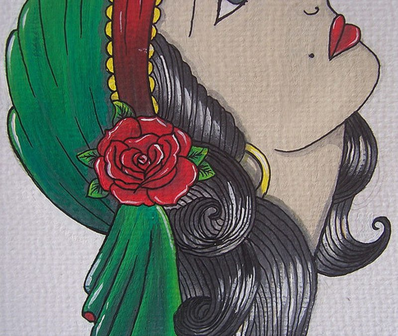Gypsy woman tattoo design 2