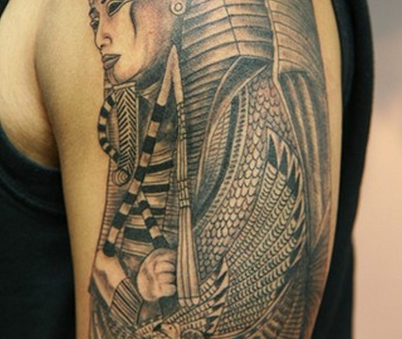Half sleeve egyptian tattoo design