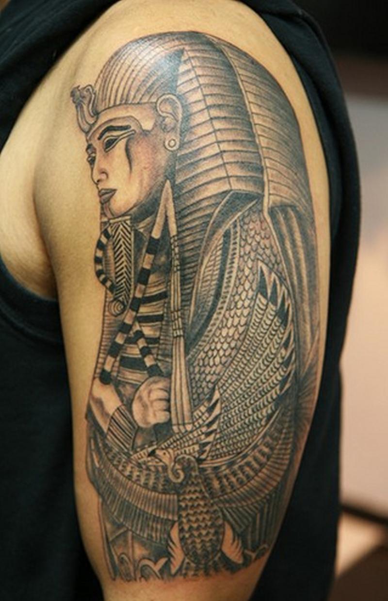 Half sleeve egyptian tattoo design