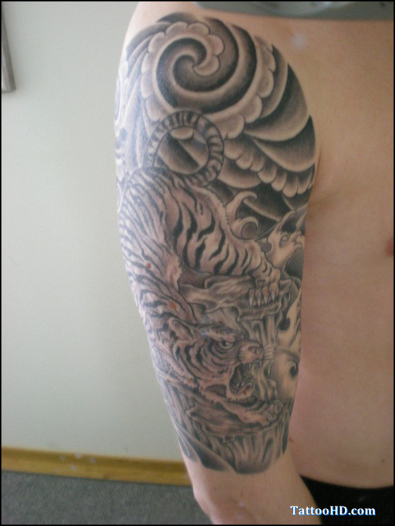Half sleeve japanese pic tattoo