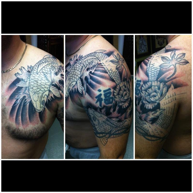 Half sleeve japanese tattoo design