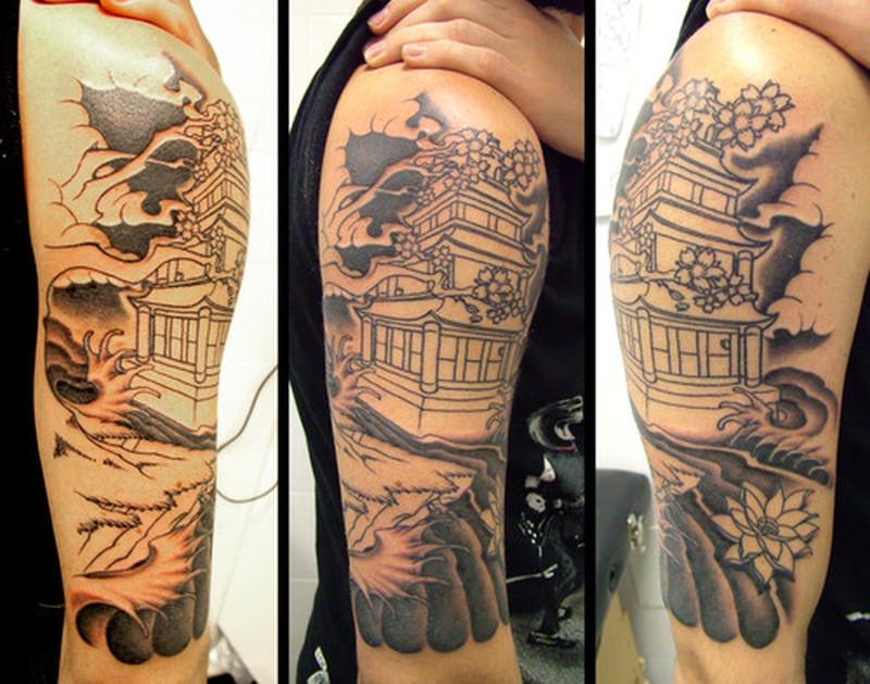 Half sleeve japanese tattoo image