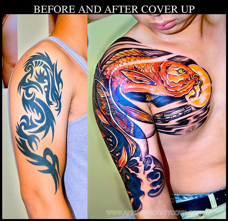 Half sleeve tattoo stages