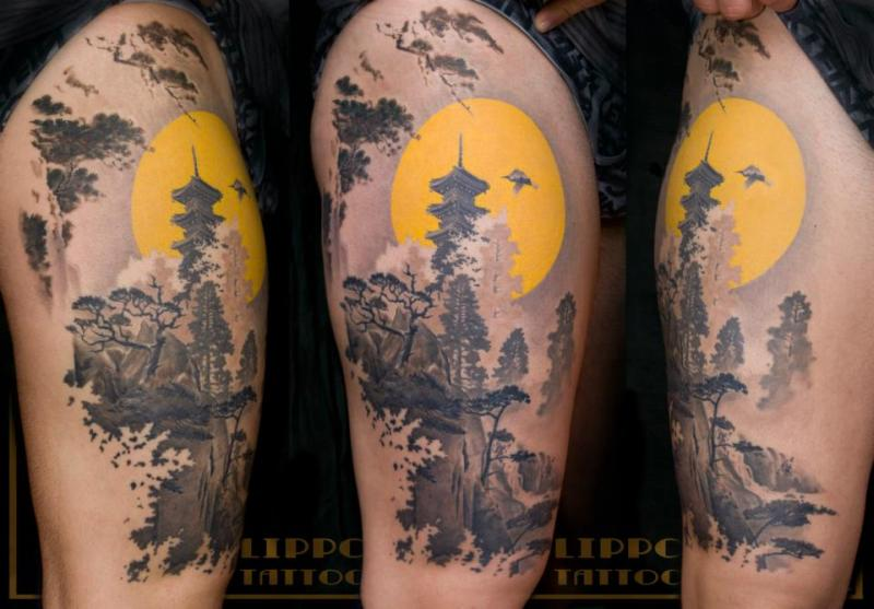 Half sleeve traditional japanese tattoo design