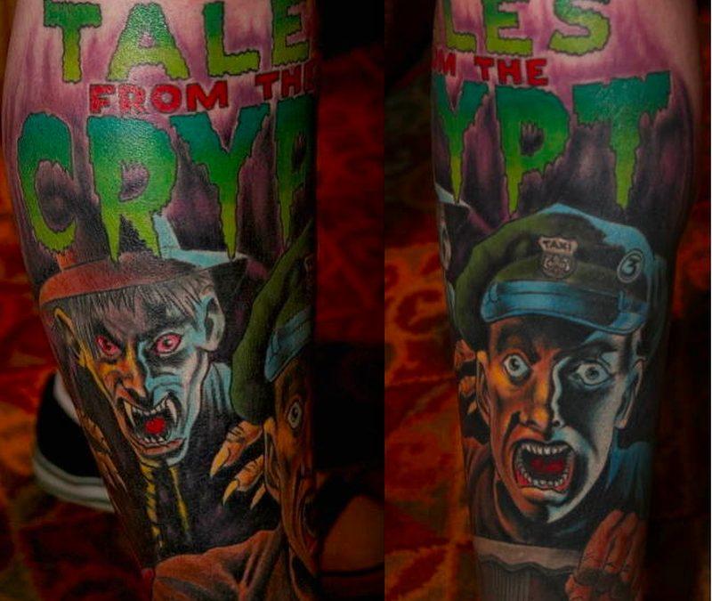 Halloween horror tattoo design