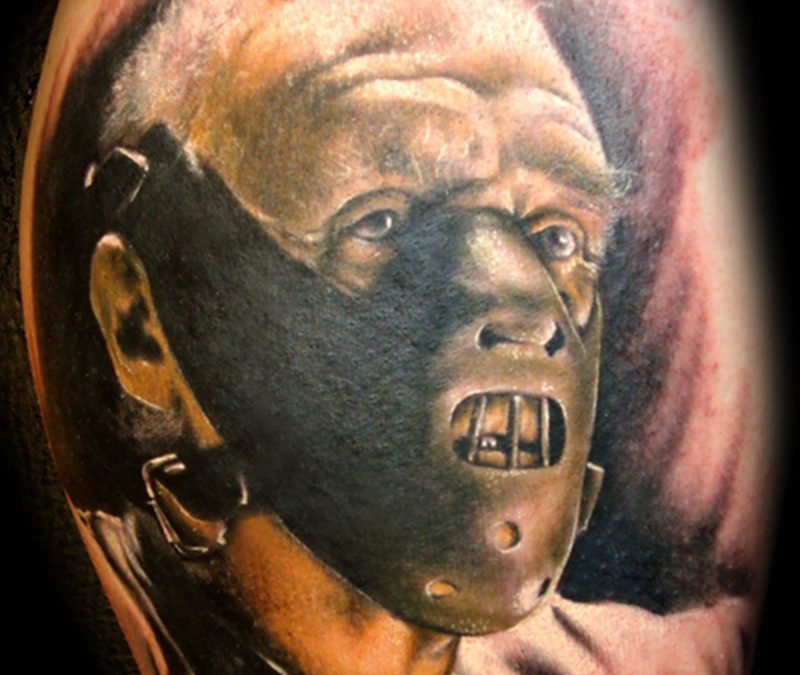 Hannibal lector horror tattoo design