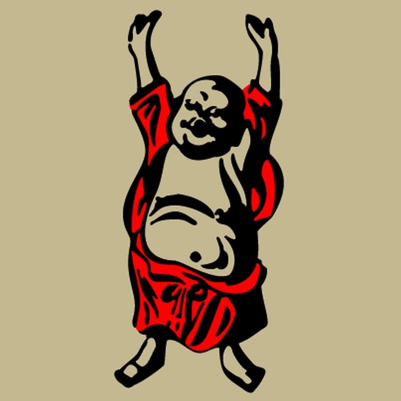 Happy buddha tattoo image