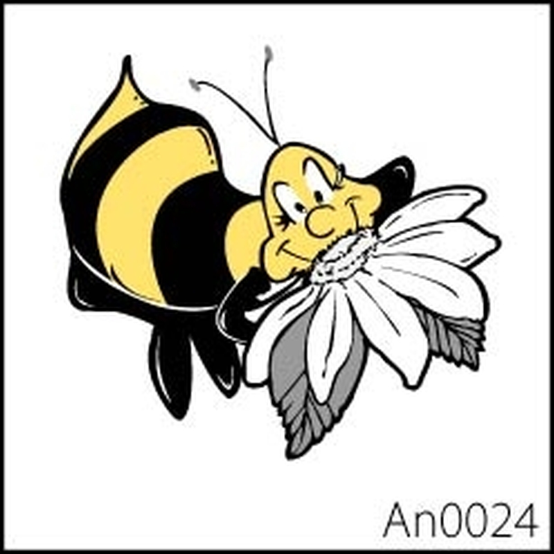 Happy bumblebee temporary tattoo