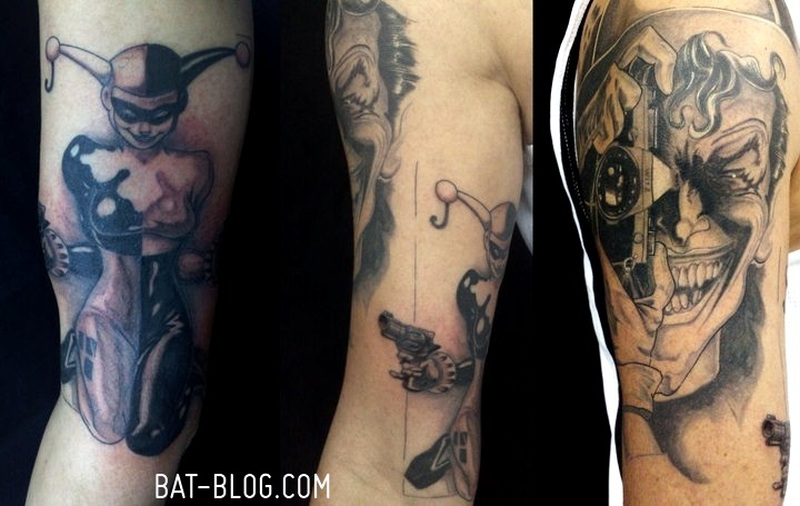 Harley quinn joker tattoo design 3