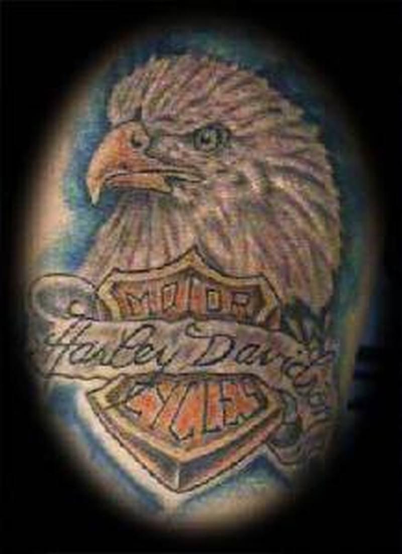 Harley symbol bike tattoo