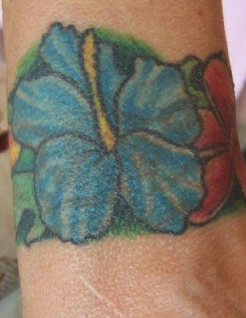 hawaiian flower armband tattoo design tattoos book tattoos designs. Black Bedroom Furniture Sets. Home Design Ideas