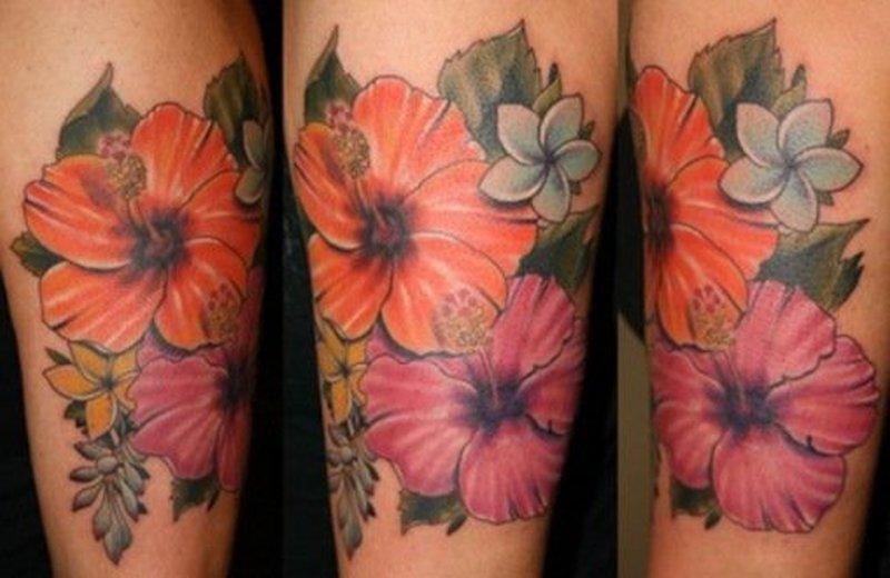 67e36b8a815b4 Hawaiian flower tattoo design 2 - Tattoos Book - 65.000 Tattoos Designs