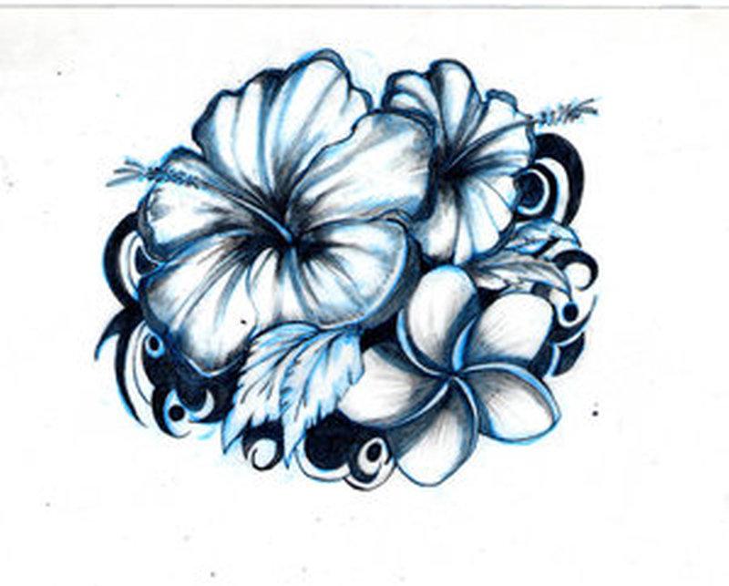 bd106703e7685 Hawaiian flower tattoo design - Tattoos Book - 65.000 Tattoos Designs