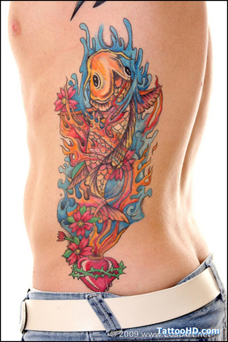 Hawaiian Flowers Tattoo On Rib Side For Women Tattoos Book