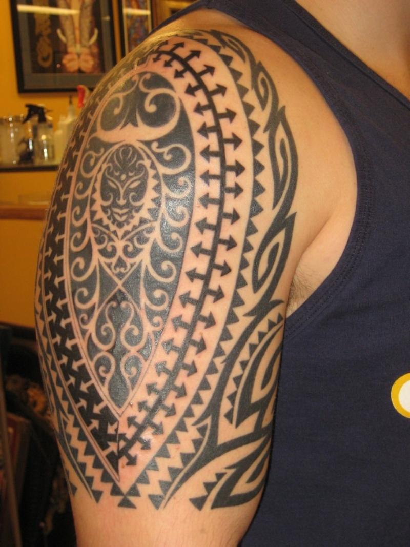 Hawaiian tribal tattoo on arm