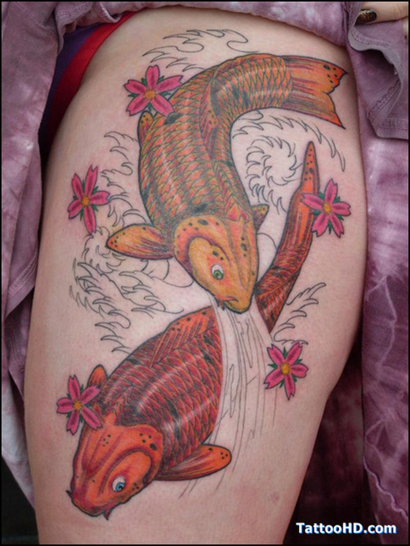 Hd fishes tattoo design