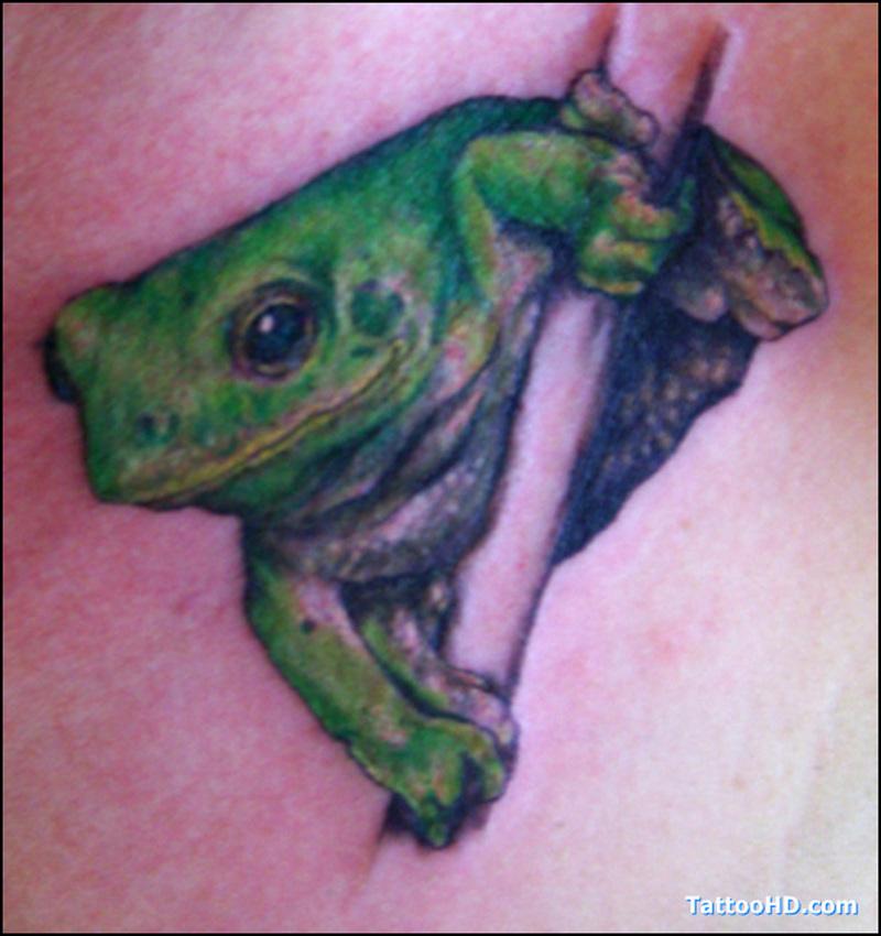 Hd frog tattoo design