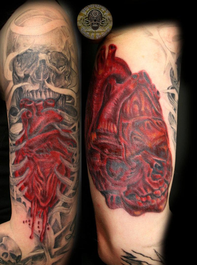 heart skull tattoo design tattoos book tattoos designs. Black Bedroom Furniture Sets. Home Design Ideas