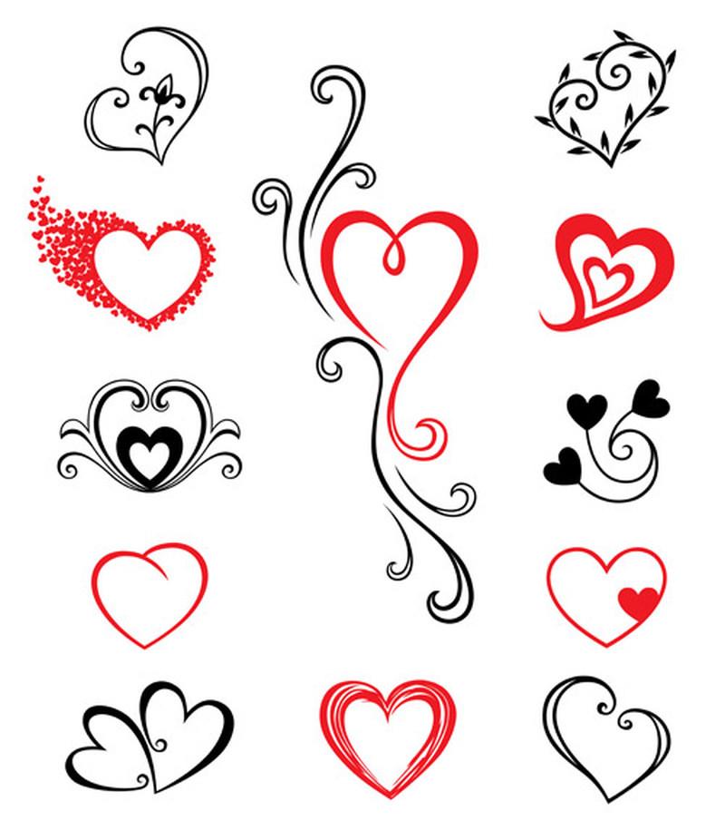 Hearts tattoo samples - Tattoos Book - 65.000 Tattoos Designs