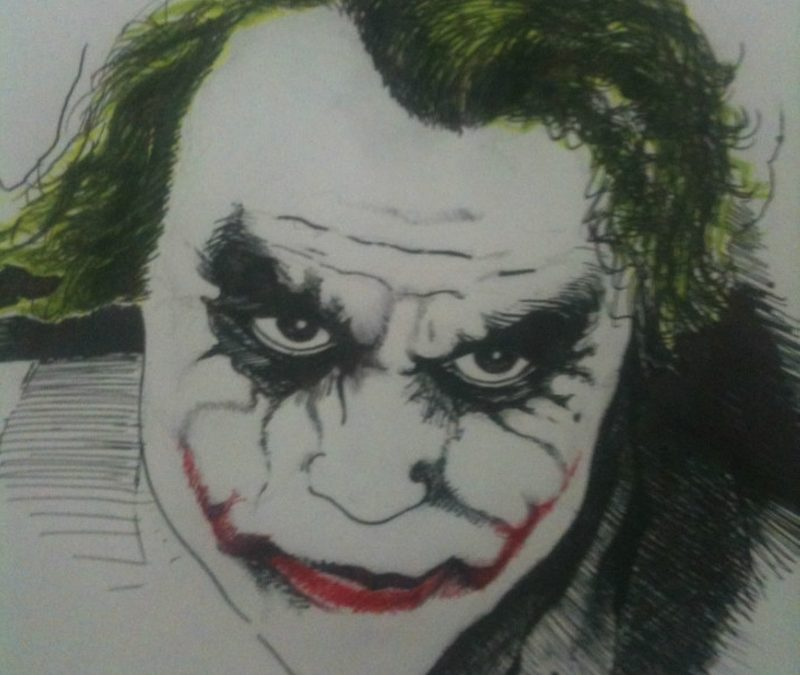 Heatlh ledger joker tattoo art