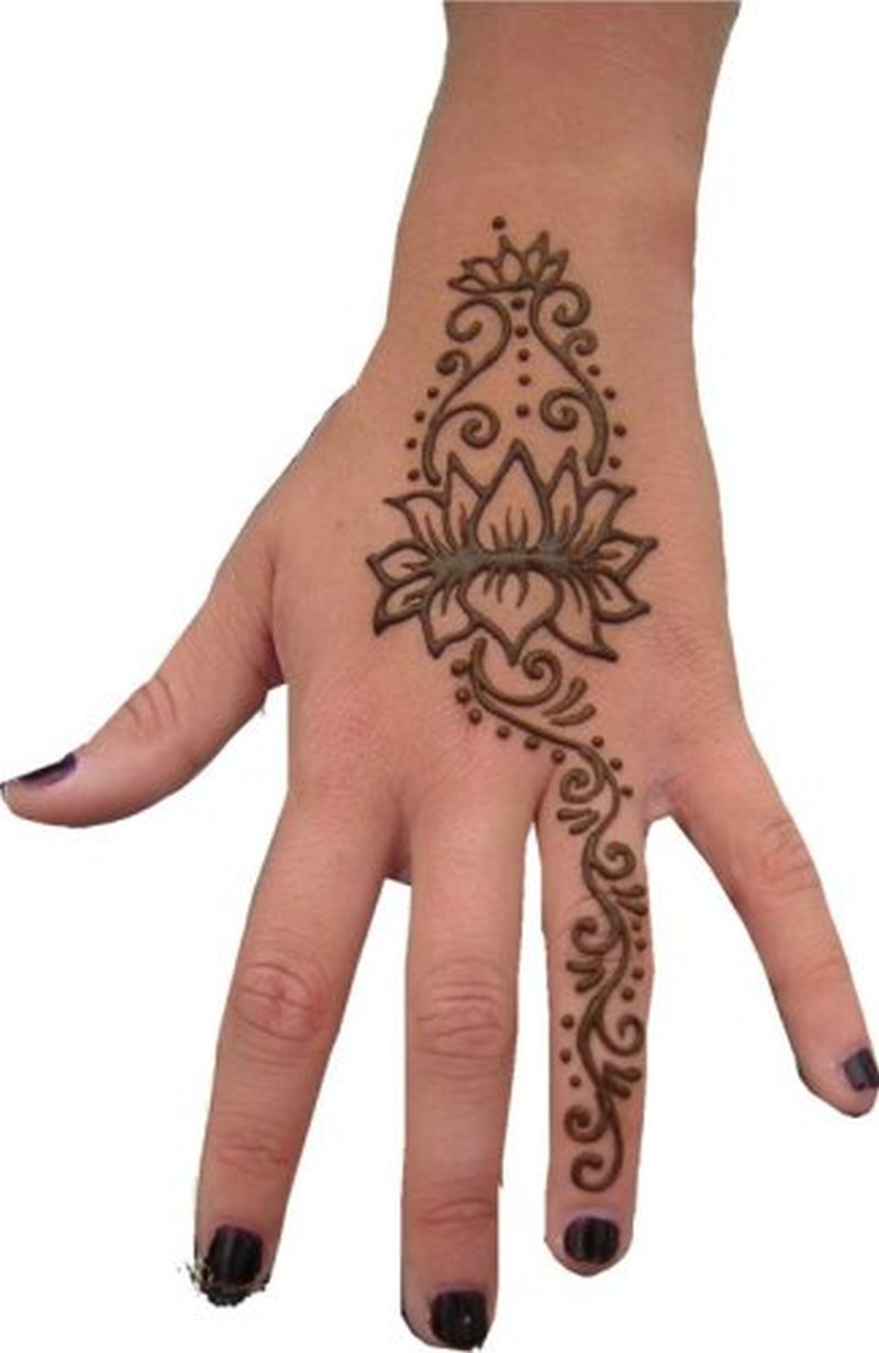henna lotus on hand tattoo tattoos book tattoos designs. Black Bedroom Furniture Sets. Home Design Ideas