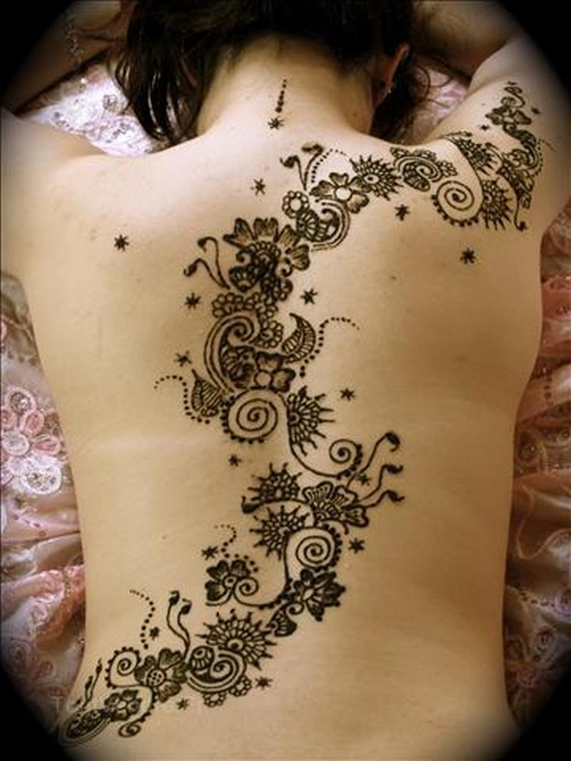 acd40a5b2 Henna tattoo designs on back - Tattoos Book - 65.000 Tattoos Designs