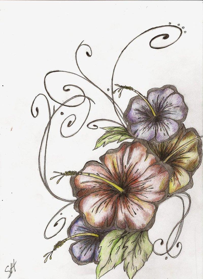Hibiscus Flowers Tattoo Designs Tattoos Book 65000 Tattoos Designs