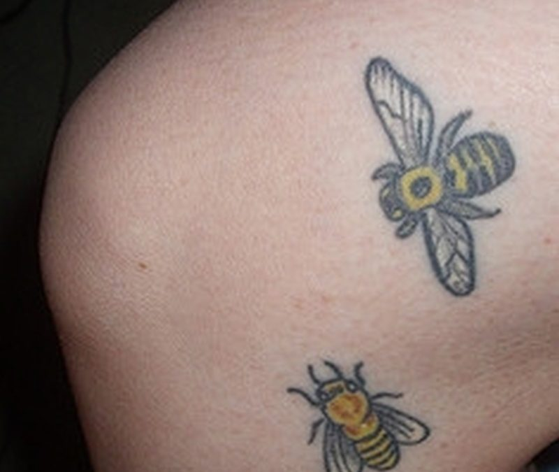 Honey bees tattoo design