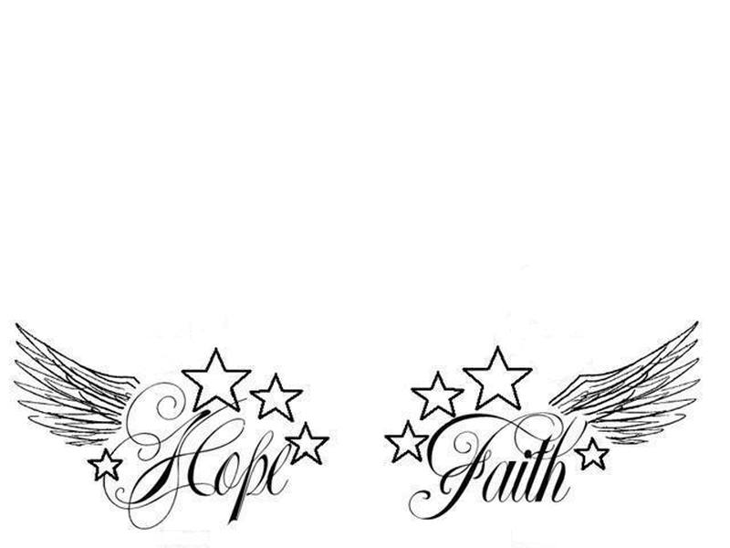 Hope faith n stars tattoo design