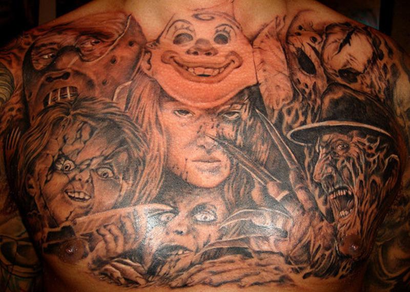 Horror chest piece tattoo design - Tattoos Book - 65.000 Tattoos Designs