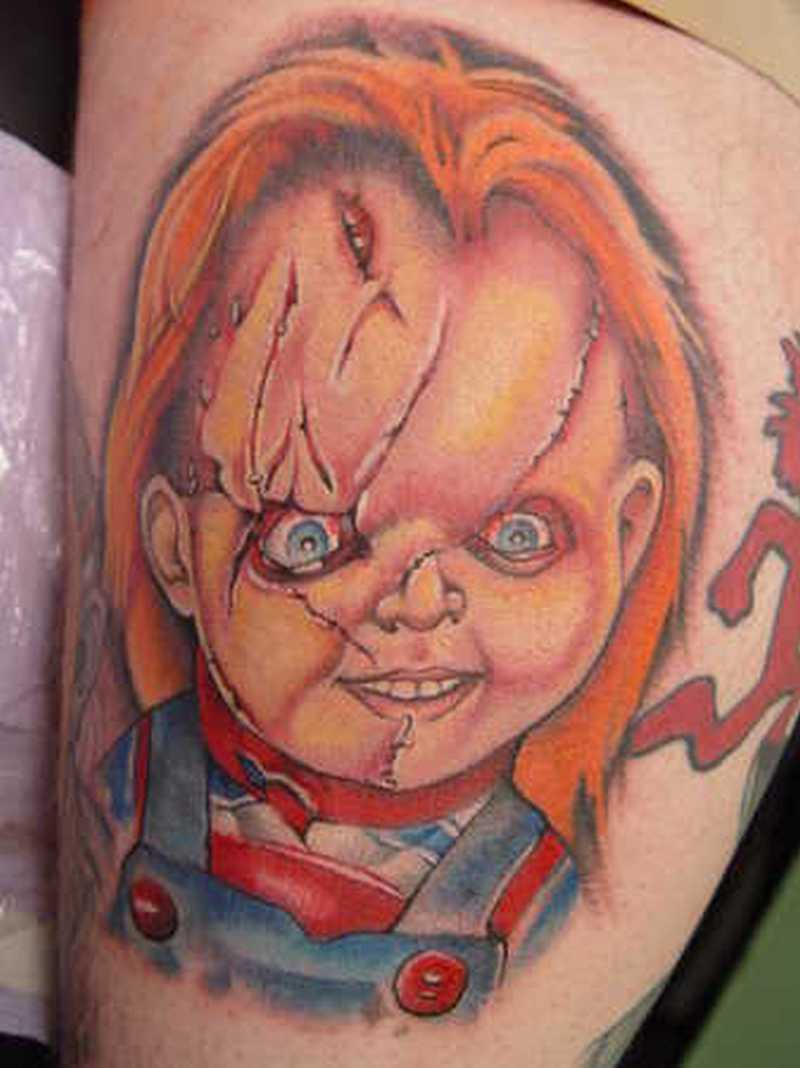 Realistic Coloring Of Chucky: Chucky Tattoo Drawing