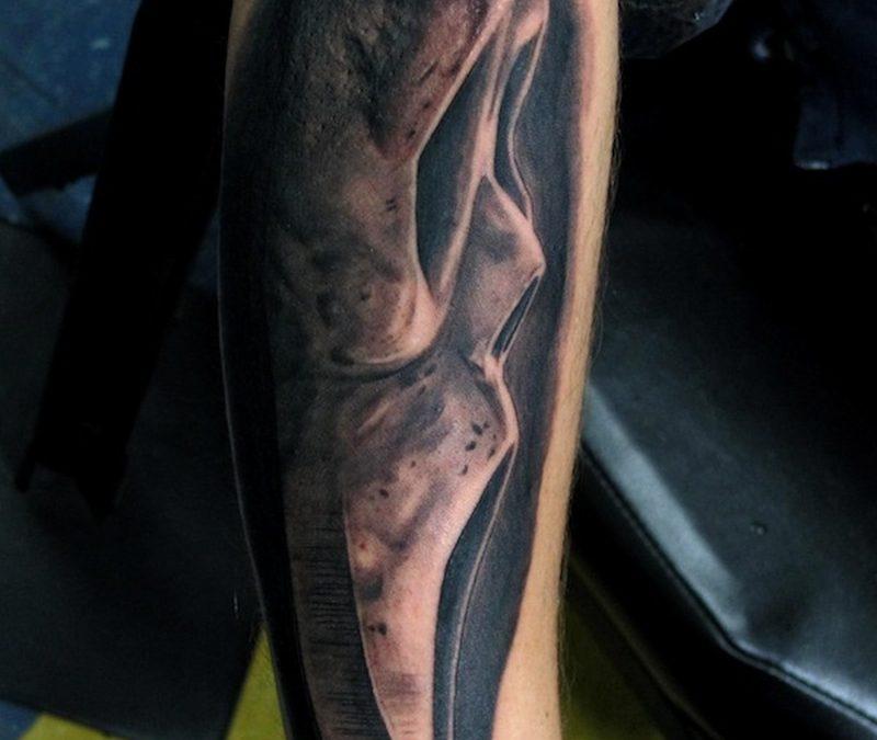 Horror ghost tattoo design