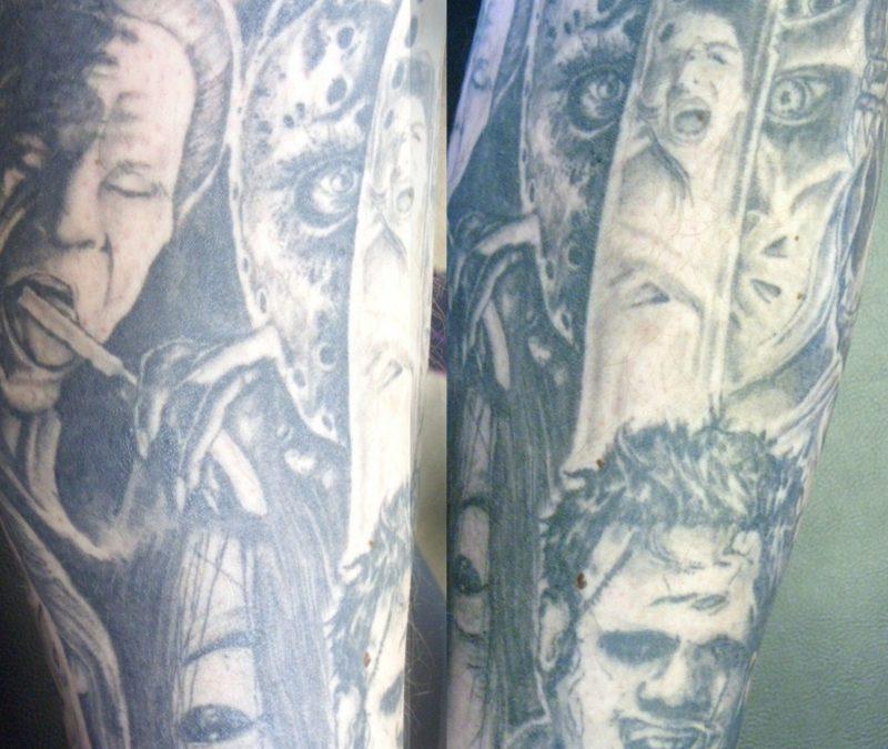 Horror leg sleeve tattoo design