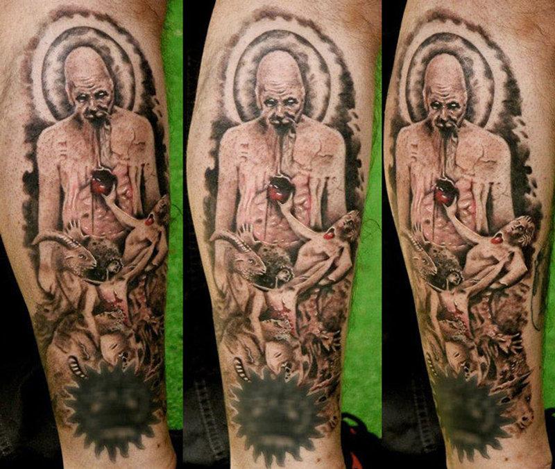 Horror leonidas lonis horror tattoo design