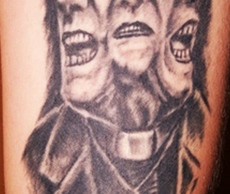 Horror man tattoo design