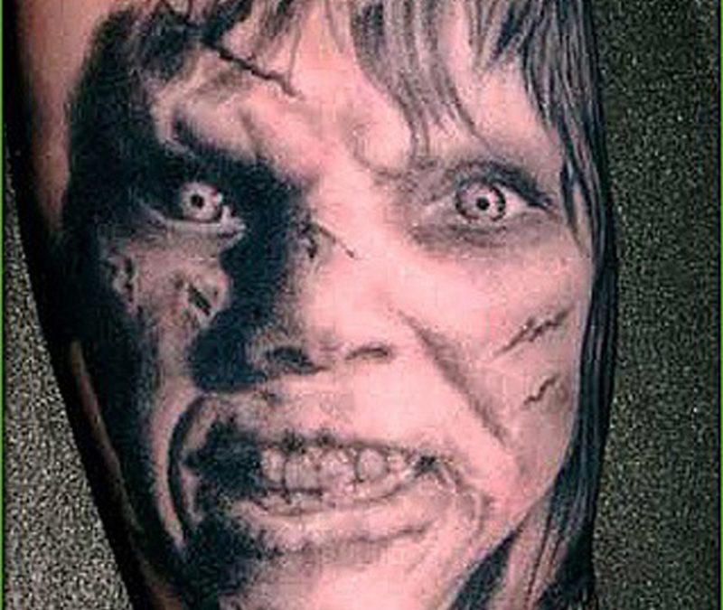 Horror movie tattoo design