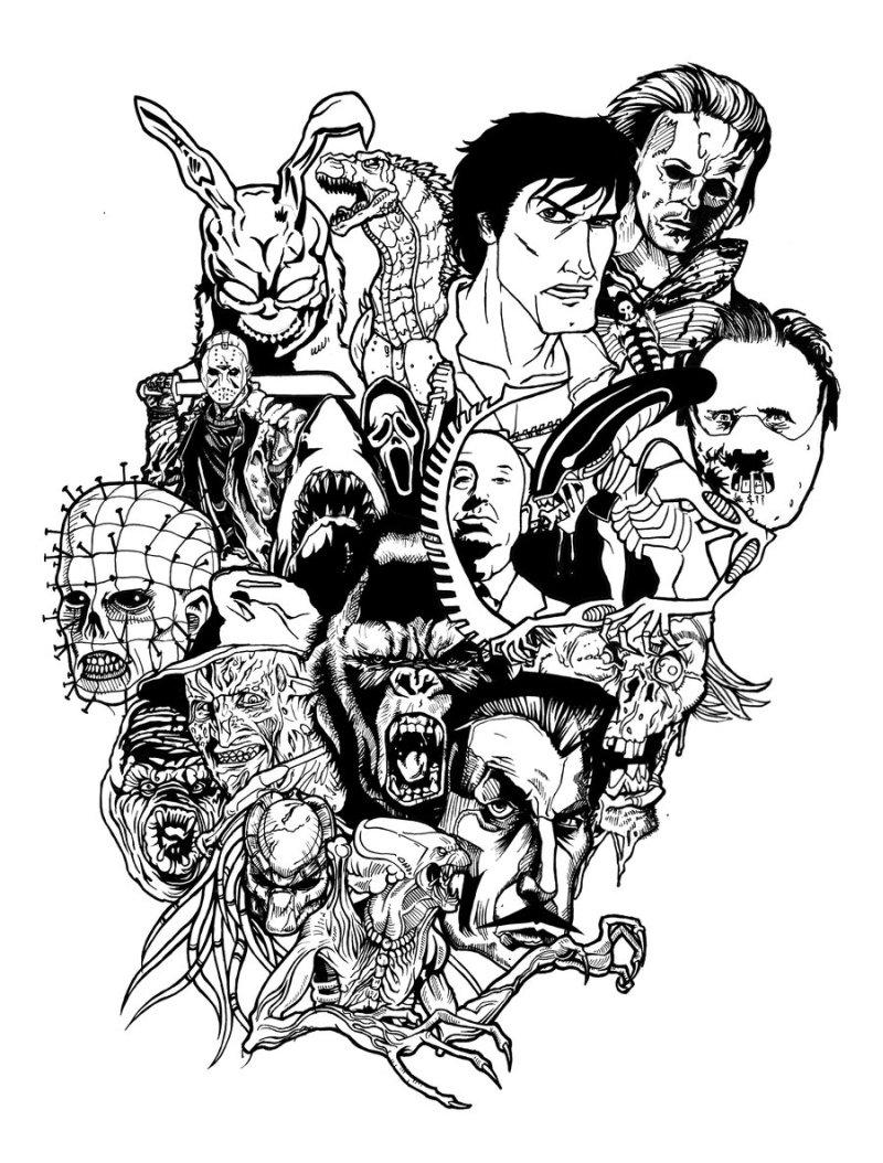 Horror movie tattoo update