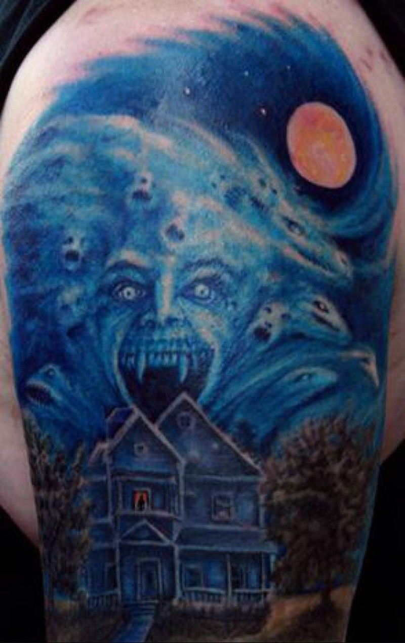 Horror night tattoo picture