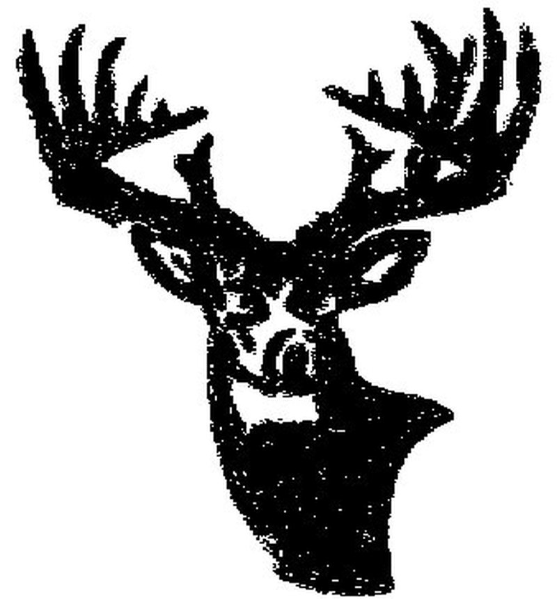 Hunter deer design tattoo