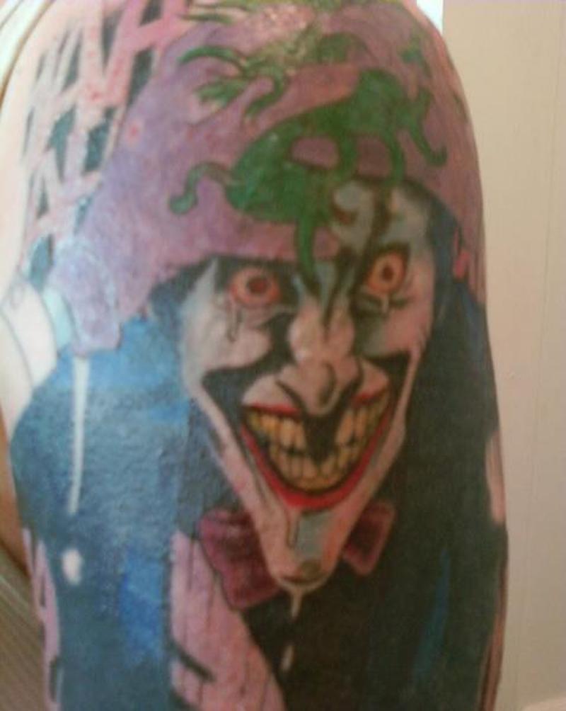 I got the joker tattoo design