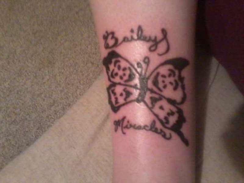 Icp Miracles Butterfly With My Daughter Name Tattoo Design Tattoos