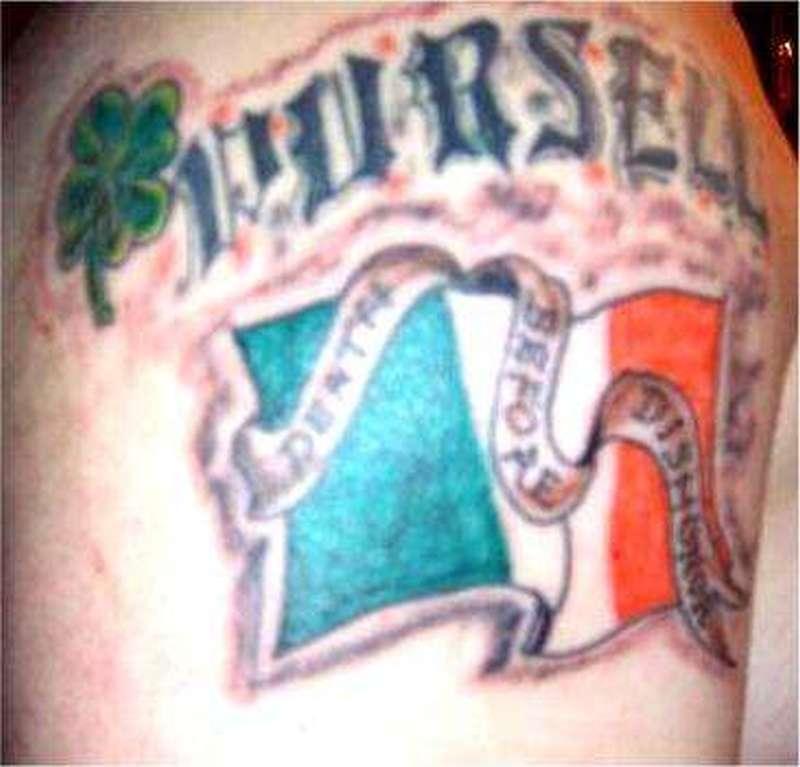 Irish flag tattoo design tattoos book tattoos for Irish canadian tattoos