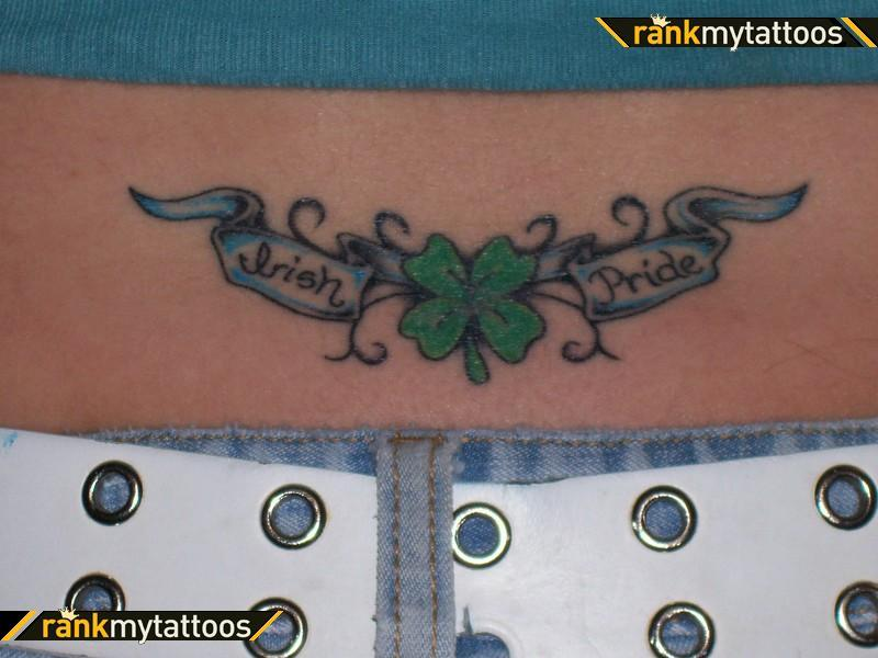irish pride clover on lower back tattoo tattoos book tattoos designs. Black Bedroom Furniture Sets. Home Design Ideas
