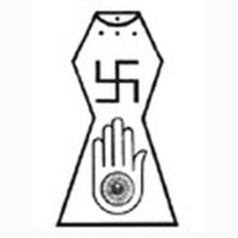 Jain symbol tattoo design