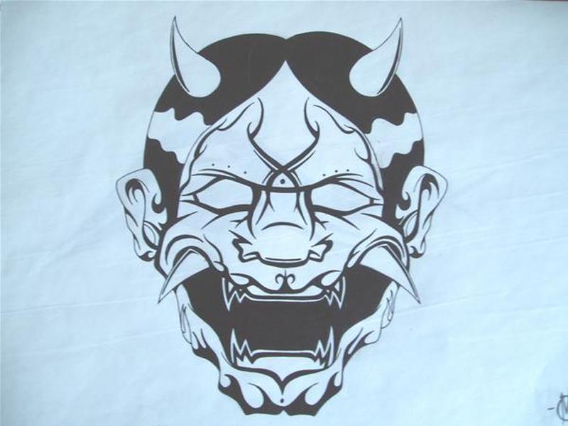 japanese devil mask tattoo design tattoos book tattoos designs. Black Bedroom Furniture Sets. Home Design Ideas