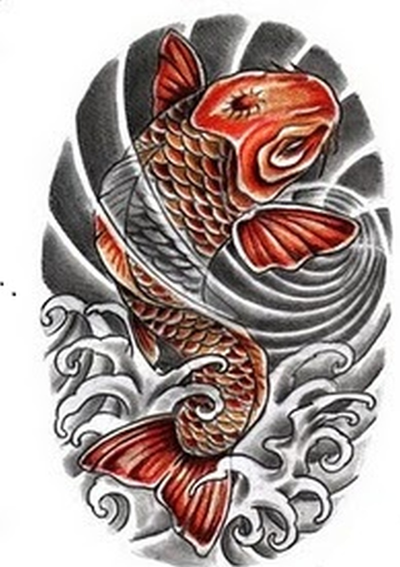 Japanese tattoos koi pictures to pin on pinterest tattooskid for Japanese koi design