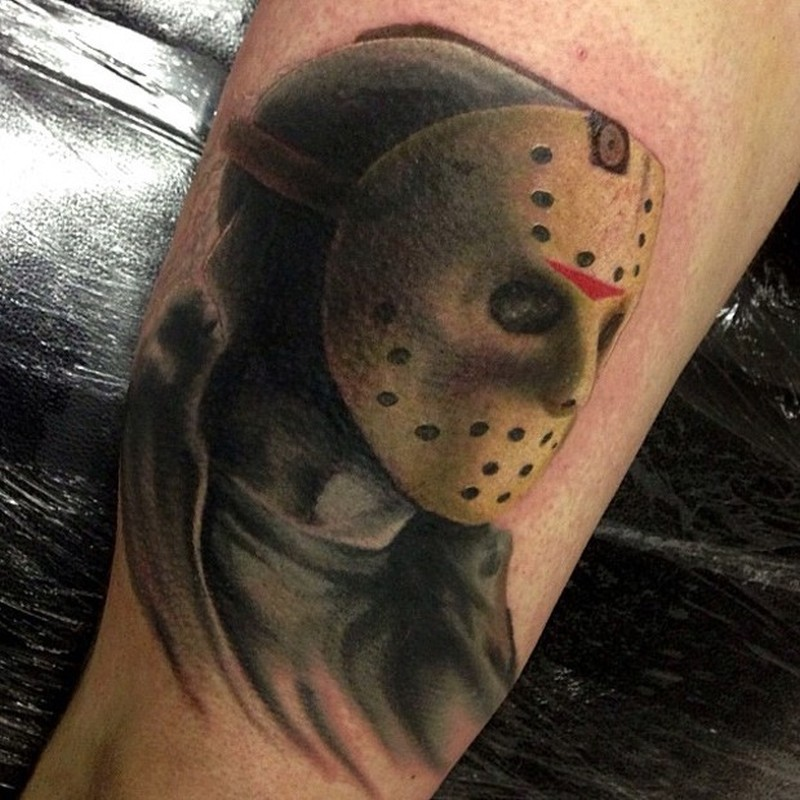 jason friday the 13 movie horror tattoo tattoos book tattoos designs. Black Bedroom Furniture Sets. Home Design Ideas