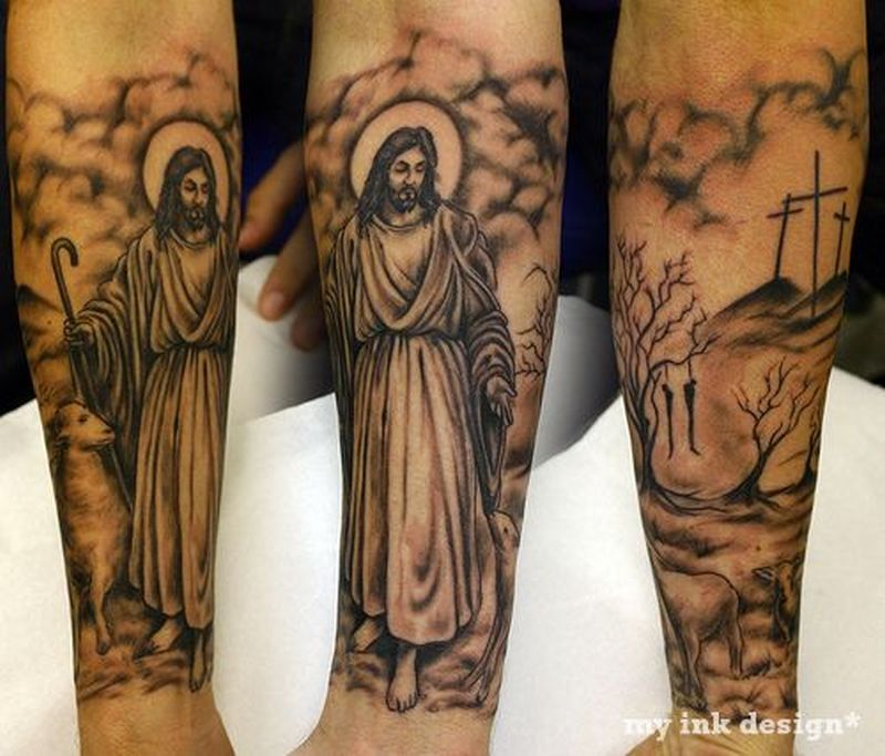 Jesus religious tattoo